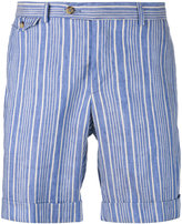 Pal Zileri striped shorts - men - Cotton/Linen/Flax - 48