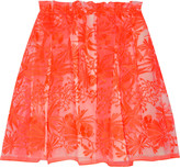 Maje Neon embroidered organza mini skirt