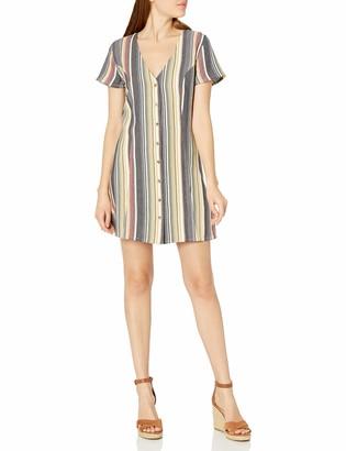 RVCA Women's Guilt Button UP Dress