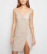 New Look Pink Vanilla Check Button Up Dress