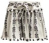 Dodo Bar Or Ariana Geometric-embroidered Cotton Mini Skirt - Womens - Black White