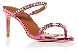 Kurt Geiger Women's Priya Crystal Snake-Embossed High-Heel Sandals