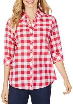 Foxcroft Dara Gingham High/Low Shirt