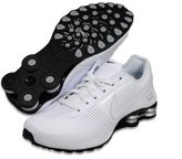 Nike Deliver 317547-109 White/Metallic Silver/Black Men's Running Shoes (size 9.5)