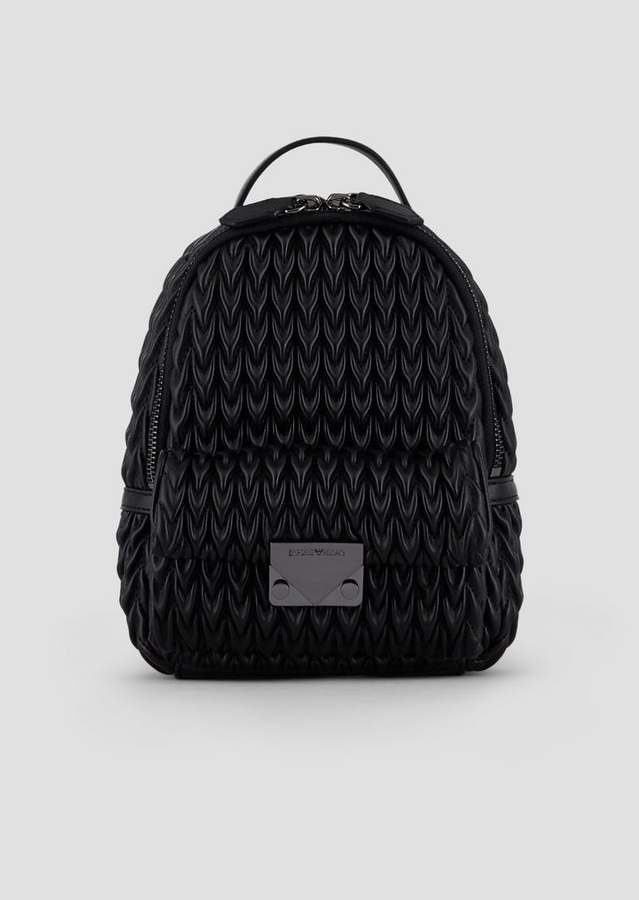 14de70ce88 Mini Backpack In Quilted Faux Nappa Leather With Drop Motif