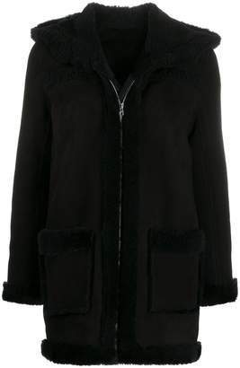 Sandro Paris zip-up hooded jacket