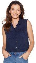 M&Co Sleeveless tencel shirt