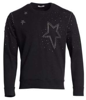 Valentino Star Studded Crew Sweater