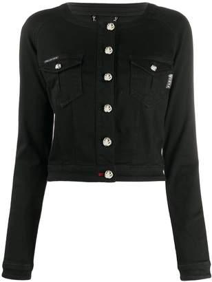 Philipp Plein collarless denim jacket