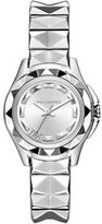 Karl Lagerfeld Stainless Steel Watch with Pyramid Stud Bracelet