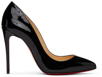 Christian Louboutin Black Patent Pigalle Follies 100 Heels