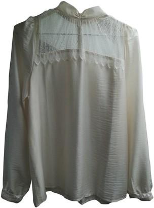 Sessun Ecru Silk Top for Women