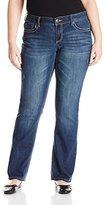 Seven7 Women's Plus-Size Slim Bootcut Jean