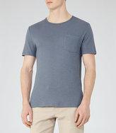 Reiss Bernie Cotton And Linen T-Shirt