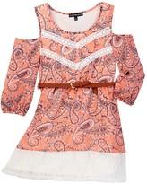 My Michelle mymichelle Cold Shoulder Lace Bottom Dress (Big Girls)