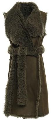 Yves Salomon Reversible Belted Shearling Vest