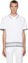 Kenzo White Logo & Stripes Polo