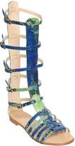Emanuela Caruso 10mm Printed Leather Gladiator Sandals