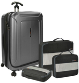 "Traveler's Choice Barcelona Dual Compartment 30"" Hardside Spinner & Packing Cubes Set"