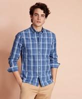 Brooks Brothers Plaid Cotton Broadcloth Sport Shirt