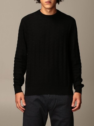 Emporio Armani Sweater Sweater In Houndstooth Viscose Blend