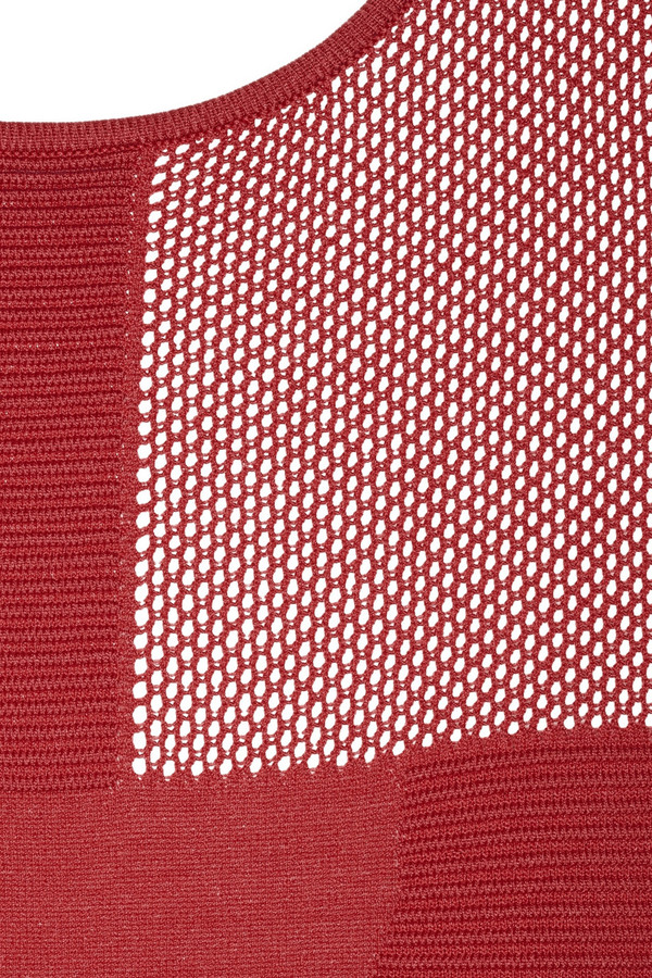 Faith Connexion Ottoman mesh-paneled stretch-knit dress