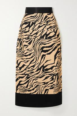USISI SISTER Chloe Tiger-print Crepe Midi Skirt
