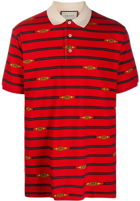 Gucci Horsebit striped polo shirt