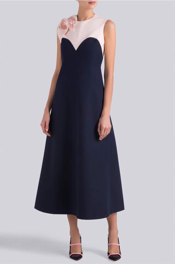 DELPOZO Bicolour Midi Dress
