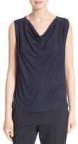 BOSS Women's Edry Drape Neck Jersey Top