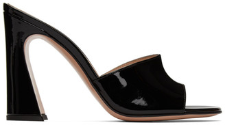 Gianvito Rossi Black Curved Heeled Sandals