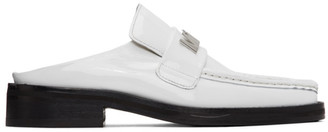 Martine Rose SSENSE Exclusive White Patent Leather Loafers