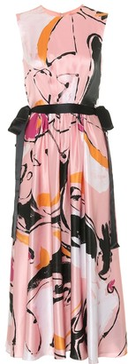 Roksanda Tibi printed silk-satin midi dress
