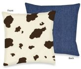 Sweet Jojo Designs Cowgirl Throw Pillow in Cow Print