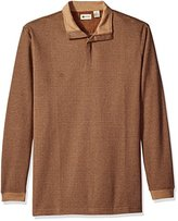 Haggar Men's Big-Tall Houndstooth Knit Quarter Zip Sweater