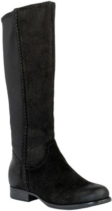 Revitalign Orthotic Stretch Calf Panel Suede Boots - Canyon