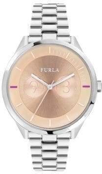 Furla Metropolis Pink Dial Stainless Steel Watch