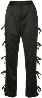 Self-Portrait bow tie straight trousers