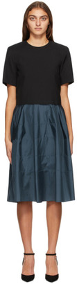 Nina Ricci Navy and Black A-Line Dress