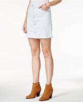 Hudson Button-Front Denim Skirt