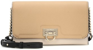 Salvatore Ferragamo Gancini Mini leather clutch