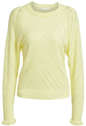 See by Chloe Lacey Long-Sleeve Wool-Blend Knit Sweater