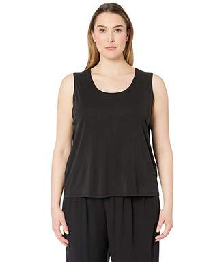 Eileen Fisher Plus Size Stretch Silk Jersey Scoop Neck Tank Top