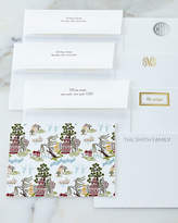 Boatman Geller Chinoiserie Autumn Flat Cards with Personalized Envelopes