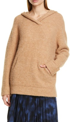 Vince Oversized Kangaroo Pocket Wool Blend Hoodie