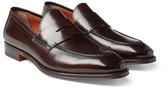 Santoni - Polished-leather Penny Loafers