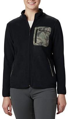 Columbia Lodgetm Fleece Full Zip (Black/Cypress Camo Print) Women's Fleece