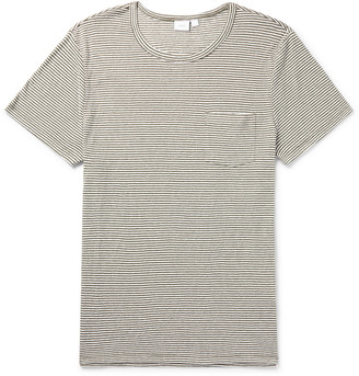 Onia Chad Striped Linen-Blend T-Shirt