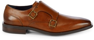 Cole Haan Dawes Double Monk-Strap Leather Oxfords