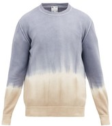 Altea Tie-dye Cotton Sweater - Mens - Blue Beige